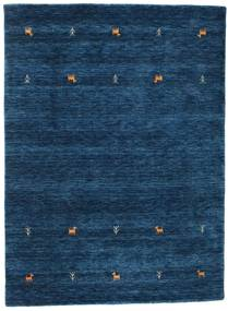 Gabbeh Loom Two Lines - Dark Blue Rug 140X200 Modern Dark Blue (Wool, India)