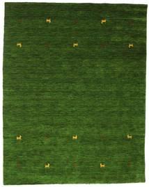 Gabbeh Loom Two Lines - Green Rug 190X240 Modern Dark Green (Wool, India)