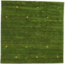 Gabbeh Loom Two Lines - Green Rug 200X200 Modern Square Dark Green (Wool, India)