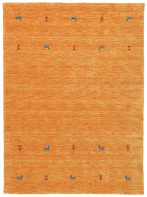 Gabbeh Loom Two Lines - Orange Rug 140X200 Modern Orange (Wool, India)