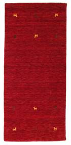 Gabbeh Loom Two Lines - Red Rug 80X200 Modern Hallway Runner  Crimson Red/Dark Red (Wool, India)