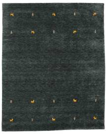 Gabbeh Loom Two Lines - Dark Grey/Green Rug 190X240 Modern Dark Turquoise   (Wool, India)