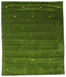 Gabbeh Loom Two Lines - Green Rug 240X290 Modern Dark Green/Olive Green (Wool, India)