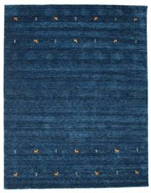 Gabbeh Loom Two Lines - Dark Blue Rug 7′10″x9′6″ Modern Dark Blue (Wool, India)