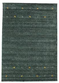 Gabbeh Loom Two Lines - Dark Grey/Green Rug 240X340 Modern Dark Green/Blue (Wool, India)