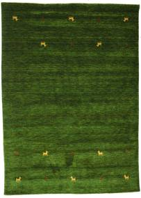 Gabbeh Loom Two Lines - Green Rug 160X230 Modern Dark Green (Wool, India)