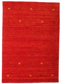 Gabbeh Loom Two Lines - Ruggine Rosso Tappeto 140X200 Moderno Ruggine/Rosso (Lana, India)