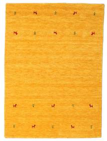 Gabbeh Loom Two Lines - Yellow Rug 140X200 Modern Orange/White/Creme (Wool, India)