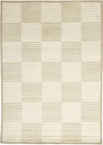 Himalaya Rug 138X201 Authentic  Modern Handknotted Beige/Dark Beige ( India)