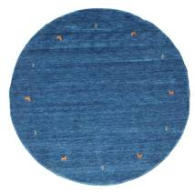 Gabbeh Loom Two Lines - Blue Rug Ø 200 Modern Round Dark Blue/Blue (Wool, India)