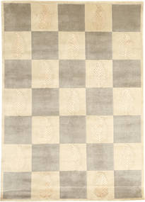 Himalaya Rug 140X198 Authentic  Modern Handknotted Beige/Light Grey ( India)