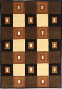 Himalaya Rug 140X203 Authentic  Modern Handknotted Dark Brown/Brown (Wool, India)