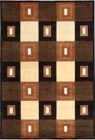 Himalaya Rug 169X247 Authentic  Modern Handknotted Dark Brown/Brown (Wool, India)