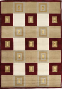 Himalaya Rug 171X244 Authentic  Modern Handknotted Light Brown/Dark Red ( India)