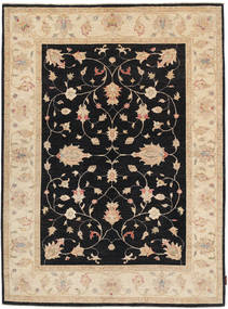 Ziegler Rug 152X211 Authentic  Oriental Handknotted Black/Light Brown/Dark Beige (Wool, Pakistan)