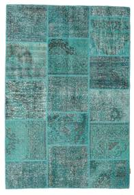 Patchwork Rug 160X232 Authentic  Modern Handknotted Turquoise Blue/Dark Turquoise   (Wool, Turkey)