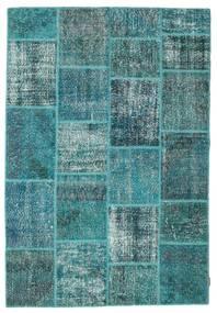 Patchwork Szőnyeg 158X231 Modern Csomózású Sötét Turquoise/Türkiz Kék (Gyapjú, Törökország)