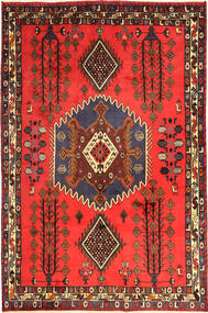 Afshar Rug 170X249 Authentic  Oriental Handknotted Orange/Dark Red (Wool, Persia/Iran)
