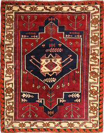 Lori Alfombra 166X209 Oriental Hecha A Mano Rojo Oscuro/Púrpura Oscuro (Lana, Persia/Irán)