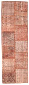 Patchwork Rug 79X250 Authentic  Modern Handknotted Hallway Runner  Light Pink/Dark Red (Wool, Turkey)