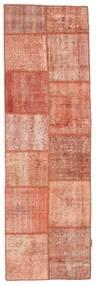 Patchwork Matto 79X252 Moderni Käsinsolmittu Käytävämatto Vaaleanpunainen/Vaaleanruskea (Villa, Turkki)