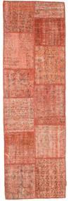 パッチワーク 絨毯 80X251 モダン 手織り 廊下 カーペット ライトピンク/赤 (ウール, トルコ)