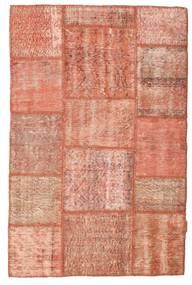 Patchwork Rug 98X152 Authentic  Modern Handknotted Light Pink/Light Brown/Dark Red (Wool, Turkey)
