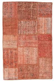 Patchwork Rug 100X156 Authentic  Modern Handknotted Dark Red/Light Pink/Crimson Red (Wool, Turkey)