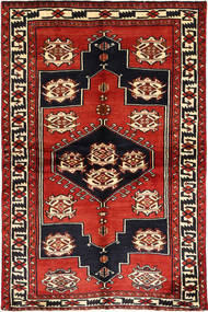Lori Rug 155X230 Authentic  Oriental Handknotted Dark Red/Rust Red (Wool, Persia/Iran)