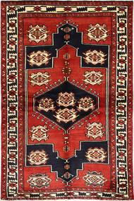Lori Teppe 155X230 Ekte Orientalsk Håndknyttet Mørk Rød/Rust (Ull, Persia/Iran)