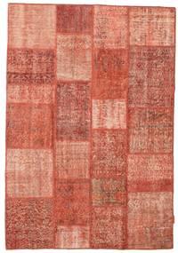 Patchwork Tapete 140X203 Moderno Feito A Mão Castanho Claro/Luz Rosa (Lã, Turquia)