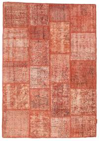 Patchwork Rug 140X201 Authentic  Modern Handknotted Light Brown/Light Pink (Wool, Turkey)