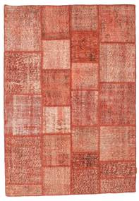 Patchwork Rug 140X202 Authentic  Modern Handknotted Light Brown/Light Pink (Wool, Turkey)