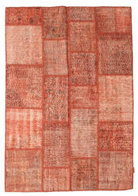 Patchwork Rug 139X200 Authentic  Modern Handknotted Light Brown/Brown (Wool, Turkey)