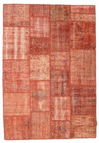 Patchwork Rug 139X201 Authentic  Modern Handknotted Crimson Red/Light Pink/Dark Red (Wool, Turkey)