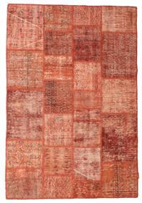 Patchwork Matto 138X202 Moderni Käsinsolmittu Vaaleanruskea/Vaaleanpunainen/Ruoste (Villa, Turkki)