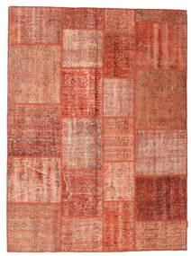 Patchwork Matto 171X232 Moderni Käsinsolmittu Vaaleanruskea/Ruskea/Vaaleanpunainen (Villa, Turkki)