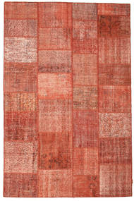Patchwork Szőnyeg 198X302 Modern Csomózású Rozsdaszín/Világosbarna/Világos Rózsaszín (Gyapjú, Törökország)