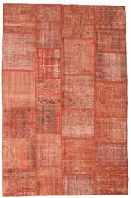 Patchwork Tæppe 198X302 Ægte Moderne Håndknyttet Rød/Lyserød/Mørkerød (Uld, Tyrkiet)