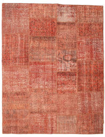 Patchwork Rug 198X252 Authentic  Modern Handknotted Light Brown/Light Pink/Rust Red (Wool, Turkey)