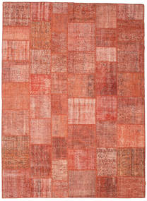 Patchwork Rug 267X367 Authentic Modern Handknotted Light Pink/Light Brown Large (Wool, Turkey)