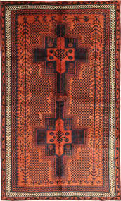 Lori Alfombra 156X263 Oriental Hecha A Mano Rojo Oscuro/Naranja (Lana, Persia/Irán)