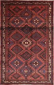Lori Matto 160X254 Itämainen Käsinsolmittu Tummanpunainen/Tummanruskea (Villa, Persia/Iran)