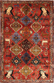 Qashqai Rug 160X245 Authentic  Oriental Handknotted Rust Red/Dark Brown (Wool, Persia/Iran)