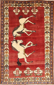 Qashqai Rug 145X231 Authentic  Oriental Handknotted Rust Red/Dark Red (Wool, Persia/Iran)