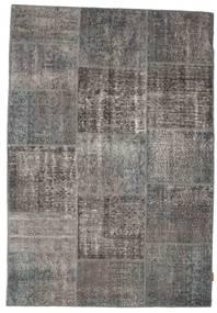 Patchwork Rug 158X230 Authentic  Modern Handknotted Dark Grey/Light Grey (Wool, Turkey)