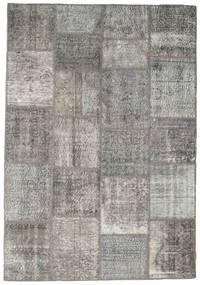 Patchwork Rug 160X230 Authentic  Modern Handknotted Light Grey/Dark Grey (Wool, Turkey)