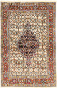 Moud Rug 98X150 Authentic  Oriental Handknotted Light Brown/Beige (Wool/Silk, Persia/Iran)