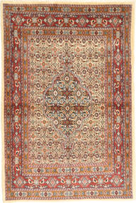 Moud Rug 102X150 Authentic  Oriental Handknotted Light Brown/Brown (Wool/Silk, Persia/Iran)