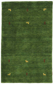 Gabbeh Loom Two Lines - Green Rug 100X160 Modern Dark Green (Wool, India)